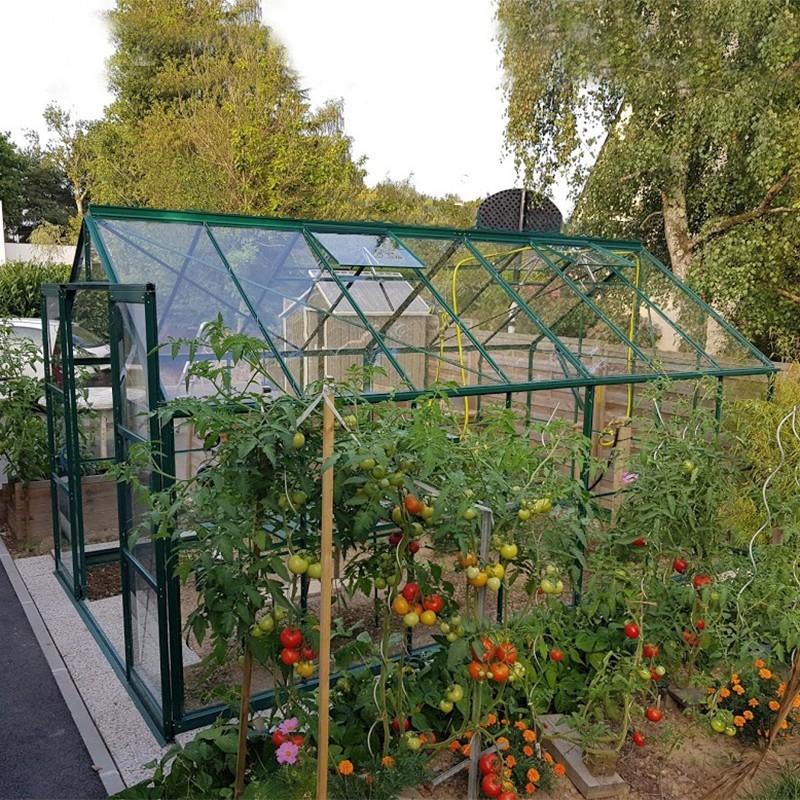 Serre de jardin de qualit en verre tremp 4mm livr e avec - Comment monter une serre de jardin ...