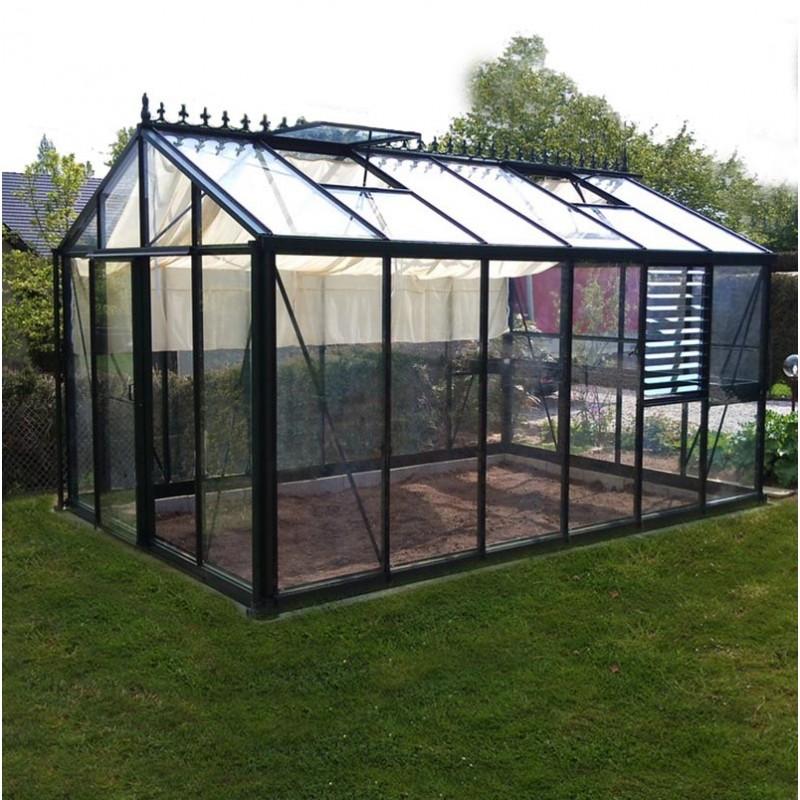 Serre helios master victorian 10 8m janssens alu laqu et - Comment monter une serre de jardin ...