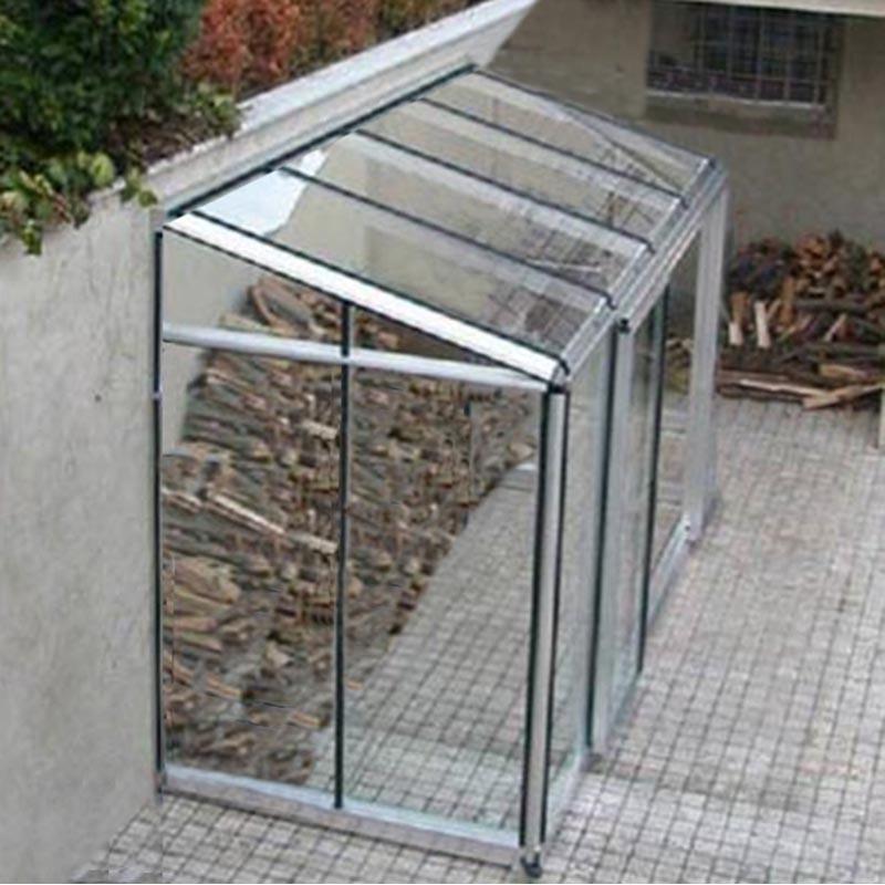 Serre adossée Arcadia Hobby Janssens 4,90m² alu naturel et verre ...