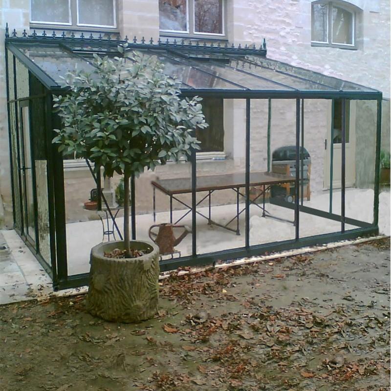 Serre adoss e arcadia plus victorian 14m janssens alu - Comment monter une serre de jardin ...