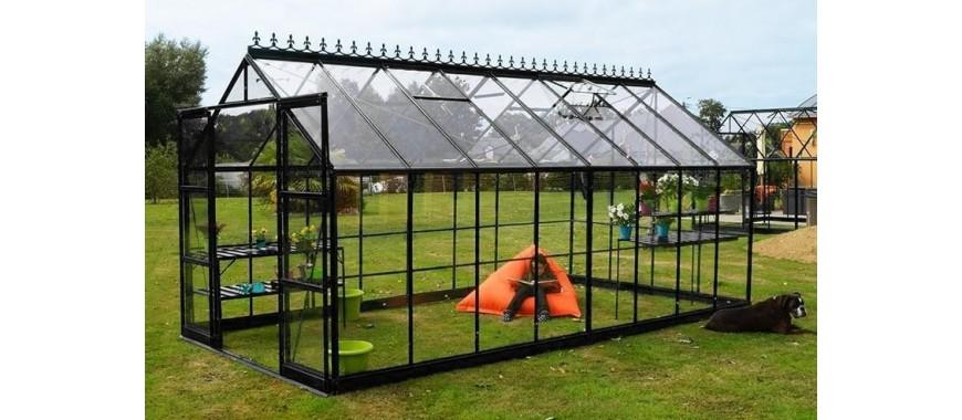 Cielmonjardin : un grand choix de serres de jardin en verre trempé